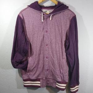 Chor Maroon Varsity Style Hoodie Jacket